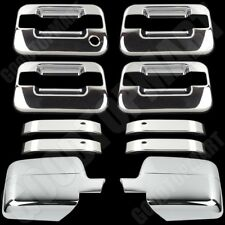 Chrome Covers Set Mirror 4 Door Handles for FORD F-150 F150 XLT & FX4 2004-2008