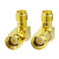 2-Pack SMA Female to Male Right Angle Connector Adapter for WiFi Router Booster