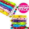 12PCS/Lot Puppy Collar Pet Dog Collars W/Bell Small Necklace Strap Wholesale
