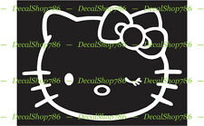 Hello Kitty with Wink - Cars /SUV's Vinyl Die-Cut Peel N' Stick Decal / Sticker