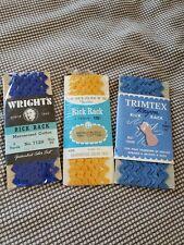 "Lot of 2 Wrights 401 1238 Goldenrod Medium Rick Rack~1//2/"" x 2.5 Yd ~B 5 Yd"