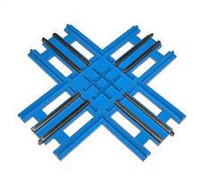Lego® Eisenbahn 12V Kreuzung Trains City blau 756 70er