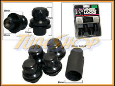 4 LOCK GORILLA MITSUBISHI STOCK FACTORY WHEELS RIMS MAG LUG NUT 12X1.5 1.5 BLACK