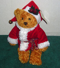 "MARCH OF DIMES MR. CLAUS CHRISTMAS SANTA BEAR 8"" PLUSH BEAN BAG TOY"