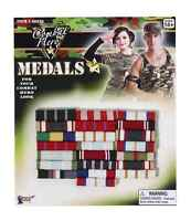 COMBAT HERO MILITARY MEDALS-BARS HALLOWEEN COSTUME ACCESSORY