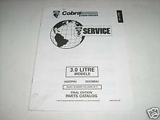 OMC Cobra 3.0 Liter Stern Drives Parts Catalog 1995