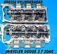 2 JEEP LIBERTY DODGE DURANGO DAKOTA 3.7 SOHC CYLINDER HEADS V6 02-06 (NO EGR)