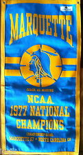 Marquette Warriors 1977 Basketball Banner Al McGuire