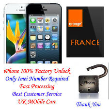 Permanent Factory Unlock iPhone 3G 3GS 4 4S 7 7+ locked to Orange FRANCE NETWORK
