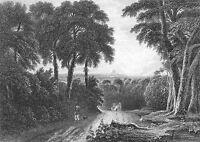 Distant View LONDON ENGLAND ~ 1830s Art Print Engraving