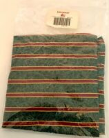 Longaberger Holiday Evergreen Basket Fabric Liner Imperial Stripe New 286148