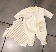 George Baby Unisex Soft Fleece All In One Outfit 0-3 Months (first size) VGC