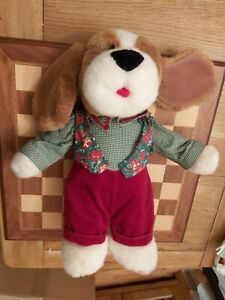 VERY RARE Vintage 1980s Allders The Chumleys Papa Chumley Dog with Tag 47cm