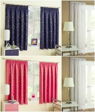 Ready Made Childrens Bedroom Thermal Blockout Pencil Pleat / Tape Top Curtains