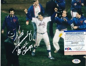 KEITH HERNANDEZ  NEW YORK METS  PSA AUTHENTICATED 86 WS CHAMPS  SIGNED 8x10