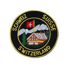 "Swiss Confederation Patch ""Switzerland Schweiz Suisse"" Souvenir Iron-On Applique"