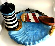Unique Handcrafted and Hand Painted LightHouse Serving Platter/Tray