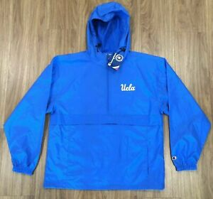 UCLA Champion Packable Blue Jacket-Water Resistant, Size Large