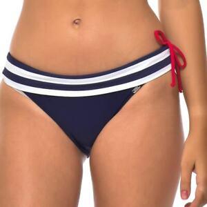 Navy Blue Striped Bikini Bottoms Size 12 NEW £18