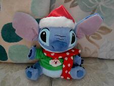 CHRISTMAS STITCH character beanie soft toy DISNEY STORE Santa Jumper Lilo &