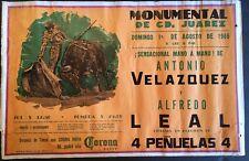 Corona Beer Poster Bullfighter Matador Mod Mid Cent Nice Color Antonio Velazquez