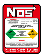 NEW NOS REPLACEMENT 10 LB. NITROUS BOTTLE LABEL Sticker Decal  BEST QUALITY