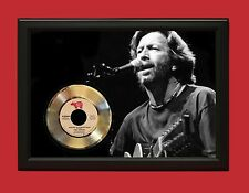 """ERIC CLAPTON POSTER ART WOOD FRAMED GOLD 45 DISPLAY FREE US SHIPPING """"C3"""""""