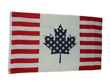 New listing Usa Canada Friendship Flag Size 3x5 3 X 5 Feet Polyester 2 Grommets New