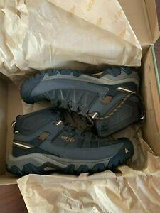 BNIB KEEN Targhee III Waterproof Mid Hiking Shoes, Men, Size 9 Black Olive/Brown