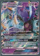 TOXAPEX GX 57/145 -S&M GUARDIANS RISING Pokemon Card- RARE HOLO-MINT