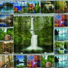 Psychedlic Forest Tree Shower Curtain With Hooks Waterproof Bath Curtains Decor