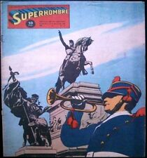 SUPERHOMBRE # 32 - 1950 (Superman) RARE Argentine Printed COMIC - Batman, etc.