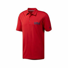 Adidas Men's USA Olympic Golf Polo Red DN4228 AUTHENTIC NWT