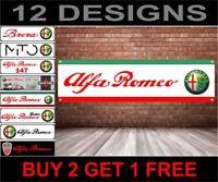 Alfa Romeo PVC Banner 02 - per Officina,Garage,Concessionario & Camera da Letto