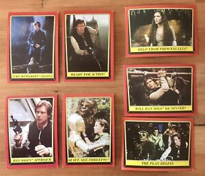 Return Of The Jedi Series 1 Lot Of 56 Trading Cards 1983 Topps Vintage Star Wars