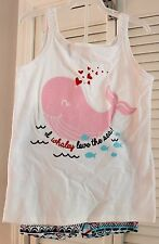 Girls Size 6 Two Piece Tank & Short Set-NEW-Whale-Fishes