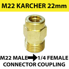 KARCHER type M22 male Screw Thread 22mm to 1/4 female Screw Coupling connector