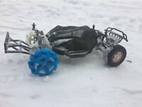 RC Snow Wheels pair 1:10 scale Black or Blue Traxxas Slash and fits 12mm Hex