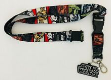 Star Wars Character Lanyard Badge Ticket Holder PVC Logo Chewy Yoda R2D2 C3PO +