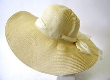 Summer Hat New Ladies Bow Fashion Accessory Straw Natural One Size