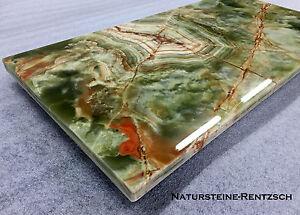 Tischplatte Bodenplatte Couchtischplatte Ablage Tablett Naturstein ONXY grün NEU