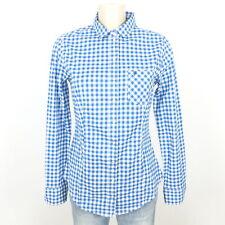 MARC O'POLO Bluse Hemd Kariert Damen Blau Weiß Gr. 36 S