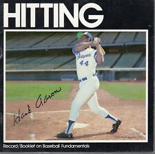 1973 Audio Sports Record/Booklet on Baseball Fundamentals, Hank Aaron, Braves~Gd