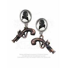 Gothic Steampunk Ohrstecker Neo Viktorianisch Ohrringe Pistolen ALCHEMY E311