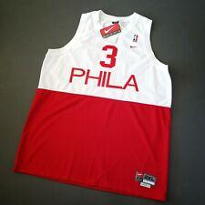 100% Authentic Allen Iverson Vintage Nike Sixers Phila Jersey Size 2XL Mens 52