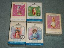 Vintage set of 5 Hallmark Beatrix Potter Easter ornaments. Peter Rabbit, Fisher!