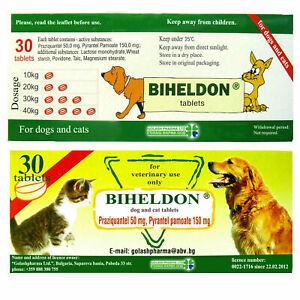 30 compresse, vermifugo,sverminazione,vermicida,wormer per cani e gatti