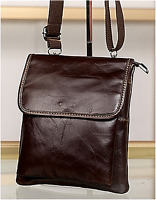 New Men Fashion Vintage Genuine Leather Messenger Shoulder Cross body Bag