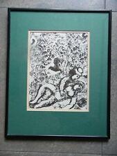 Marc Chagall, Portrait Couple Beneath a Tree. Original Mourlet Lithograph 1963
