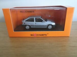 MAXICHAMPS 1/43 SCALE 1990 OPEL KADETT 2-DOOR METALLIC SILVER AND BOXED